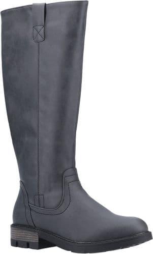 Divaz Quinn Ladies Long Boots Black